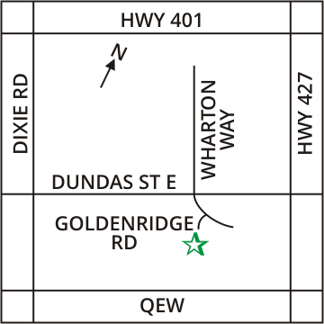Map to Enerplace Mississauga